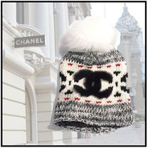 CHANEL 2019-20AW KNIT CAP gray more hats & hair accessories