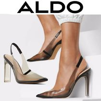 ALDO Blended Fabrics Plain Block Heels Party Style