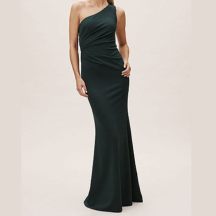 A-line Sleeveless Flared Plain Long Bold Dresses