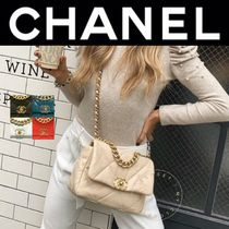 CHANEL MATELASSE Casual Style Lambskin Blended Fabrics Street Style 2WAY