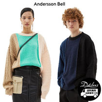 ANDERSSON BELL Crew Neck Unisex Street Style Long Sleeves Oversized