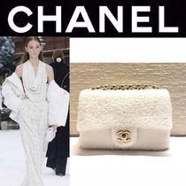 CHANEL ICON Blended Fabrics Studded Street Style 2WAY Chain Plain