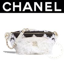 CHANEL ICON Casual Style Blended Fabrics Street Style 2WAY Chain Plain