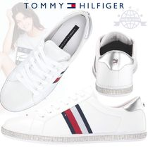Tommy Hilfiger Round Toe Lace-up Casual Style Faux Fur Plain