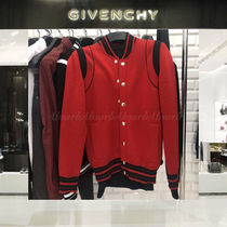 GIVENCHY Short Stripes Wool Blended Fabrics Street Style Bi-color