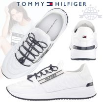 Tommy Hilfiger Round Toe Lace-up Casual Style Plain Low-Top Sneakers
