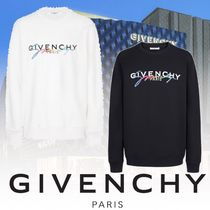 GIVENCHY Pullovers Long Sleeves Plain Cotton Sweatshirts