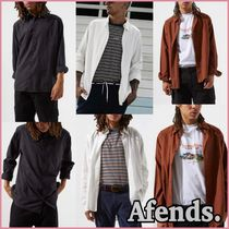 AFENDS Button-down Street Style Long Sleeves Plain Cotton Shirts
