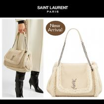 Saint Laurent Casual Style 2WAY Chain Plain Crossbody Shearling Logo
