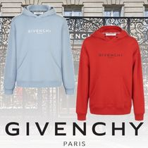 GIVENCHY Pullovers Long Sleeves Plain Cotton Hoodies