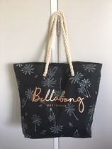Billabong Tropical Patterns Casual Style A4 Oversized Totes