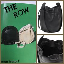 The Row Casual Style Plain Leather Purses Crossbody Shoulder Bags