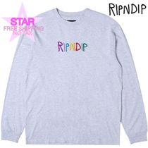 RIPNDIP Pullovers Unisex Street Style Long Sleeves Plain Cotton