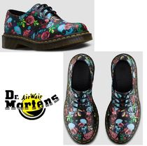 Dr Martens Skull Flower Patterns Street Style Leather