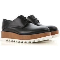 Jil Sander Platform Round Toe Rubber Sole Lace-up Leather Shoes