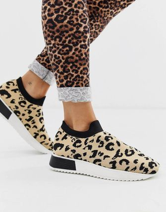 Leopard Patterns Casual Style Blended Fabrics