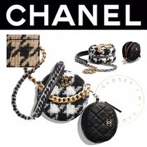CHANEL MATELASSE Other Check Patterns Zigzag Casual Style Lambskin