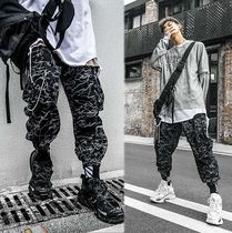 Printed Pants Street Style Other Animal Patterns Cotton