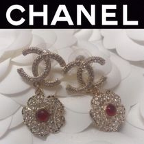 CHANEL ICON Costume Jewelry Blended Fabrics Flower Street Style Chain