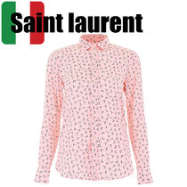 Saint Laurent Star Casual Style Silk Long Sleeves Shirts & Blouses
