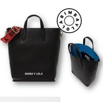 bimba & lola Casual Style A4 Plain Leather Totes