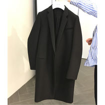 CELINE Plain Long Elegant Style Chester Coats