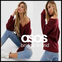 ASOS Casual Style V-Neck Long Sleeves Plain