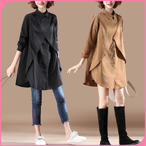Casual Style Oversized Shirts & Blouses