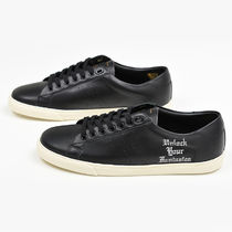 CELINE Triomphe Plain Leather Sneakers