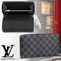 Louis Vuitton ZIPPY ORGANISER Other Check Patterns Unisex Leather Long Wallets