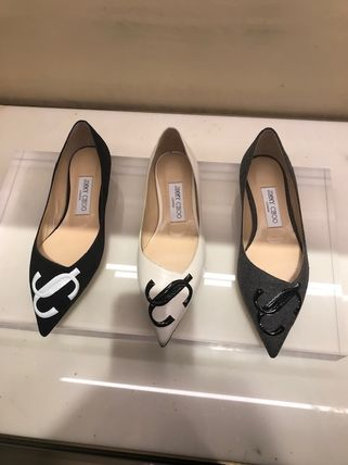 Jimmy Choo Formal Style  Bridal Logo Casual Style Suede Party Style
