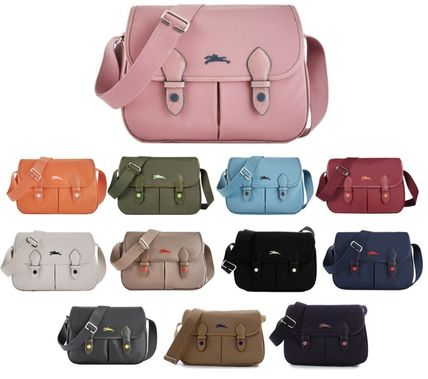 Bi-color Plain Crossbody Shoulder Bags