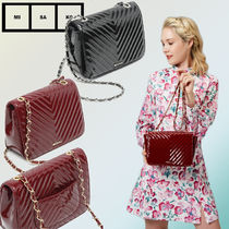 MISAKO Casual Style Chain Shoulder Bags