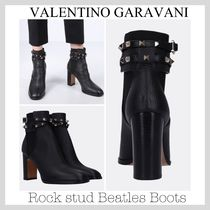 VALENTINO Studded Plain Leather Shoes