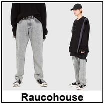 Raucohouse Unisex Plain Jeans & Denim