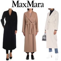 S Max Mara Casual Style Wool Plain Long Office Style Elegant Style
