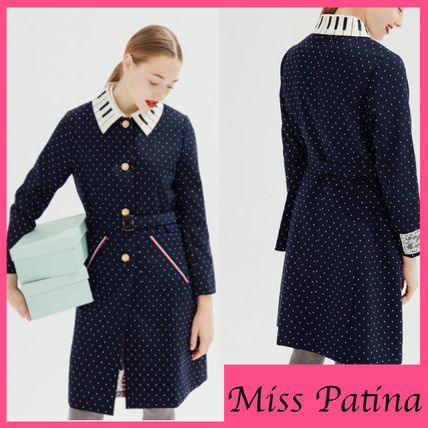 Dots Casual Style Trench Coats