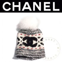 CHANEL ICON Blended Fabrics Street Style Handmade Keychains & Bag Charms