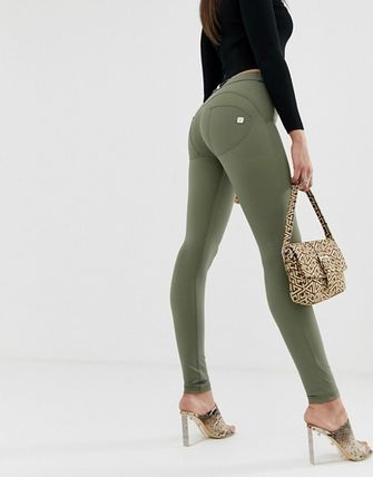 FREDDY Casual Style Street Style Plain Long Khaki Skinny Pants