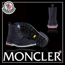 MONCLER Mountain Boots Suede Blended Fabrics Plain Outdoor Boots