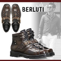 Berluti Mountain Boots Plain Leather Outdoor Boots