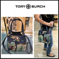 Tory Burch Flower Patterns 2WAY Leather Handbags