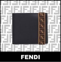 FENDI Monogram Plain Folding Wallets