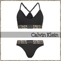 Calvin Klein Leopard Patterns Cotton Lingerie Sets