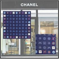 CHANEL 2019-20AW SCARF navy blue more scarves & shawls