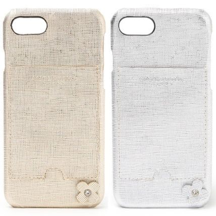 Leather iPhone 8 Logo Smart Phone Cases