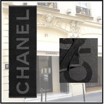 CHANEL 2019-20AW SCARF black gray more scarves & shawls
