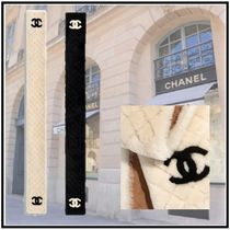 CHANEL 2019-20AW SCARF black ivory more scarves & shawls