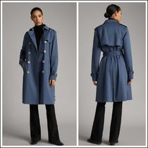 Massimo Dutti Plain Medium Elegant Style Trench Coats