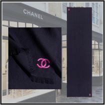 CHANEL 2019-20AW STOLE navy blue more scarves & shawls